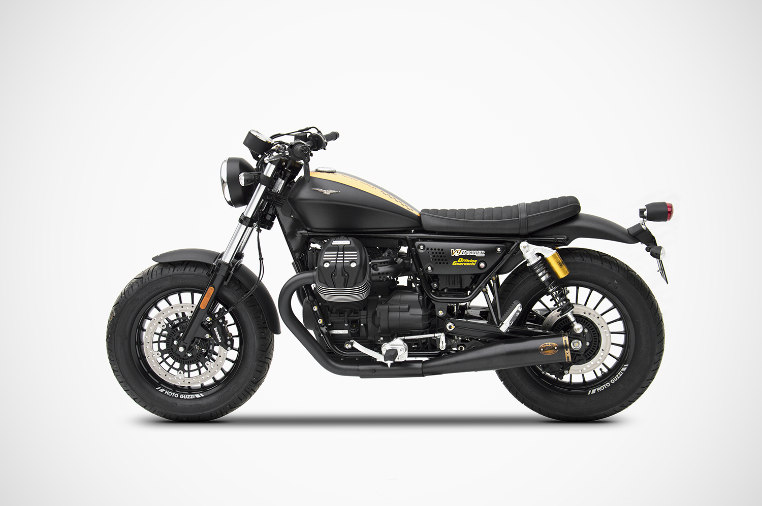 moto guzzi v9 bobber roamer exhaust zard zard. Black Bedroom Furniture Sets. Home Design Ideas