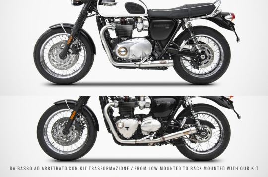 TRIUMPH BONNEVILLE T120 2016/19 - 2>2 KIT