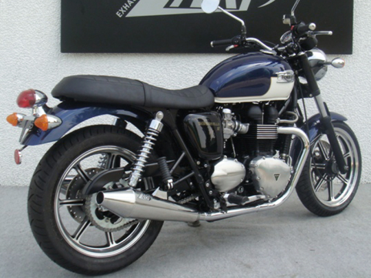 TRIUMPH BONNEVILLE POLISHED SILENCERS FOR BONNEVILLE SE