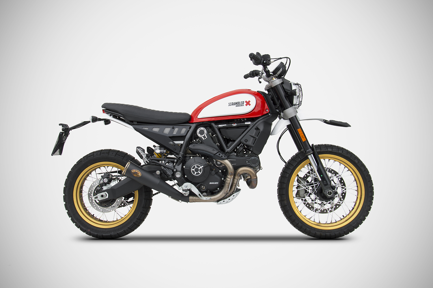 scrambler ducati desert sled exhaust zard. Black Bedroom Furniture Sets. Home Design Ideas