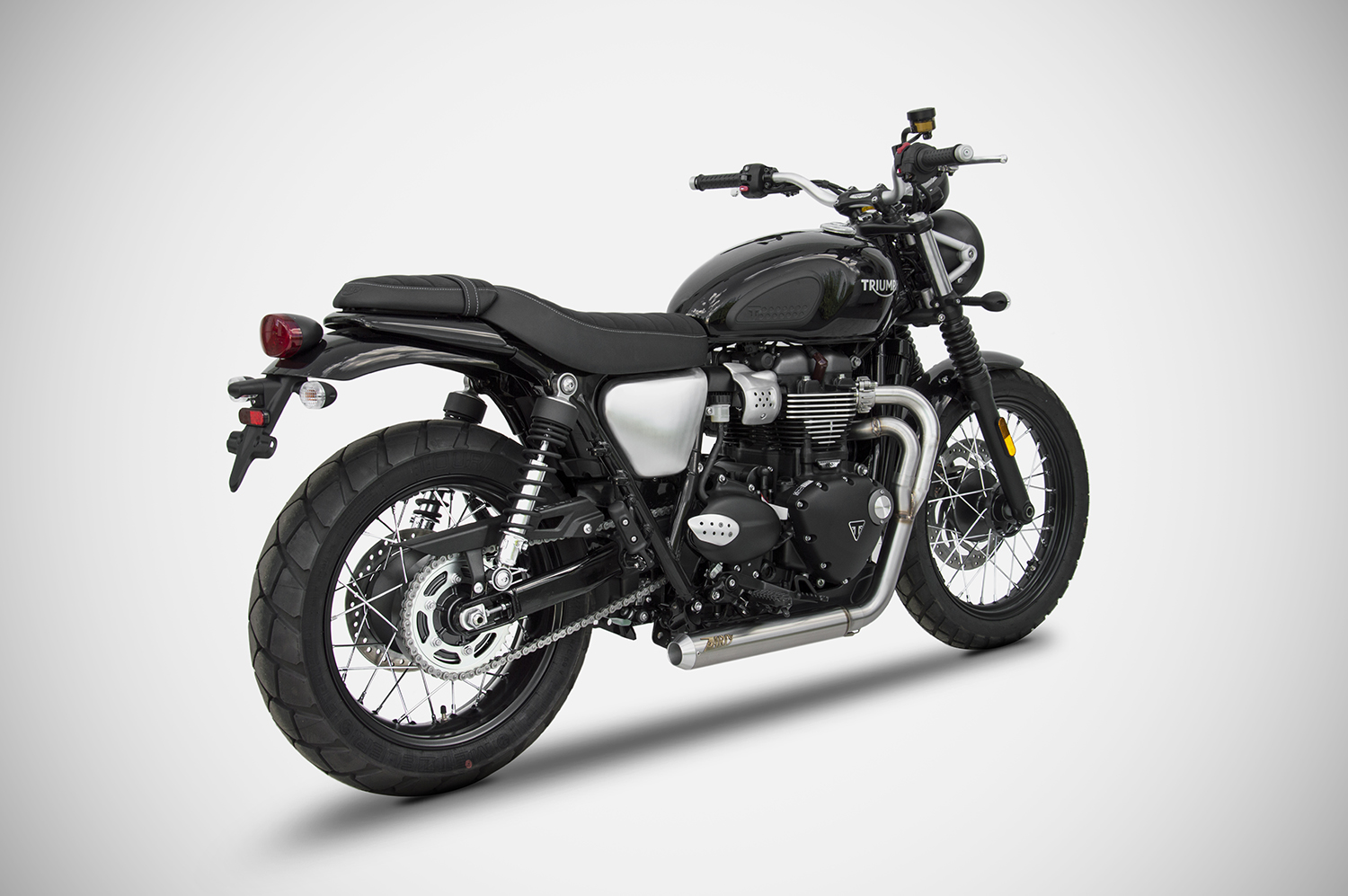 scarico triumph street scrambler zard zard. Black Bedroom Furniture Sets. Home Design Ideas