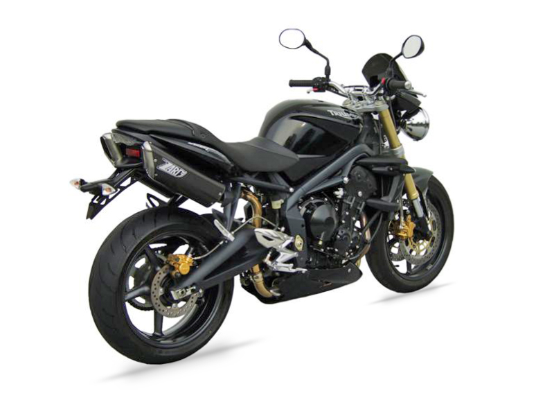 TRIUMPH STREET TRIPLE 675 - HIGH MOUNTED SILENCERS