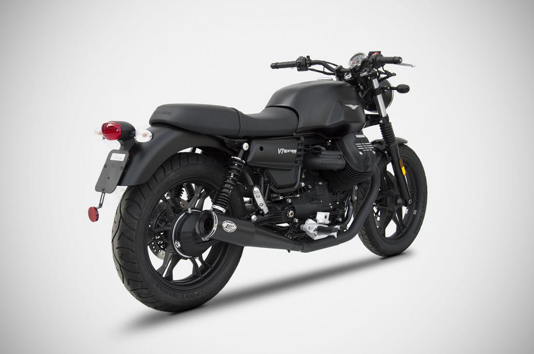 moto guzzi v7 iii exhaust zard. Black Bedroom Furniture Sets. Home Design Ideas