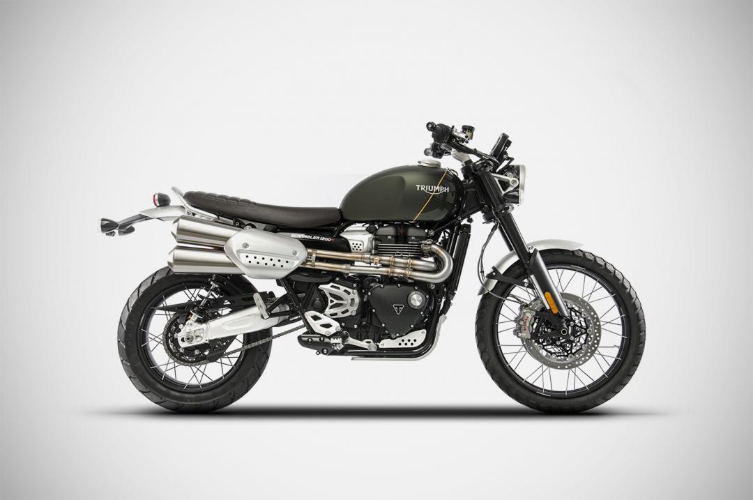 Zard Motorcycle Exhausts - Triumph Scrambler 1200 decatalyzer kit